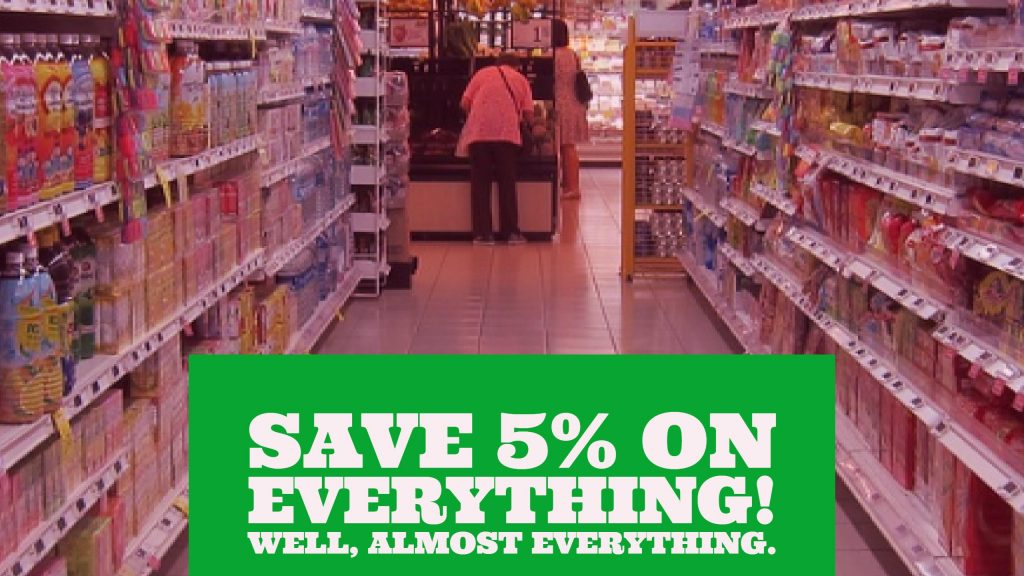 Save 5% on Everything! Well, almost everything.blog